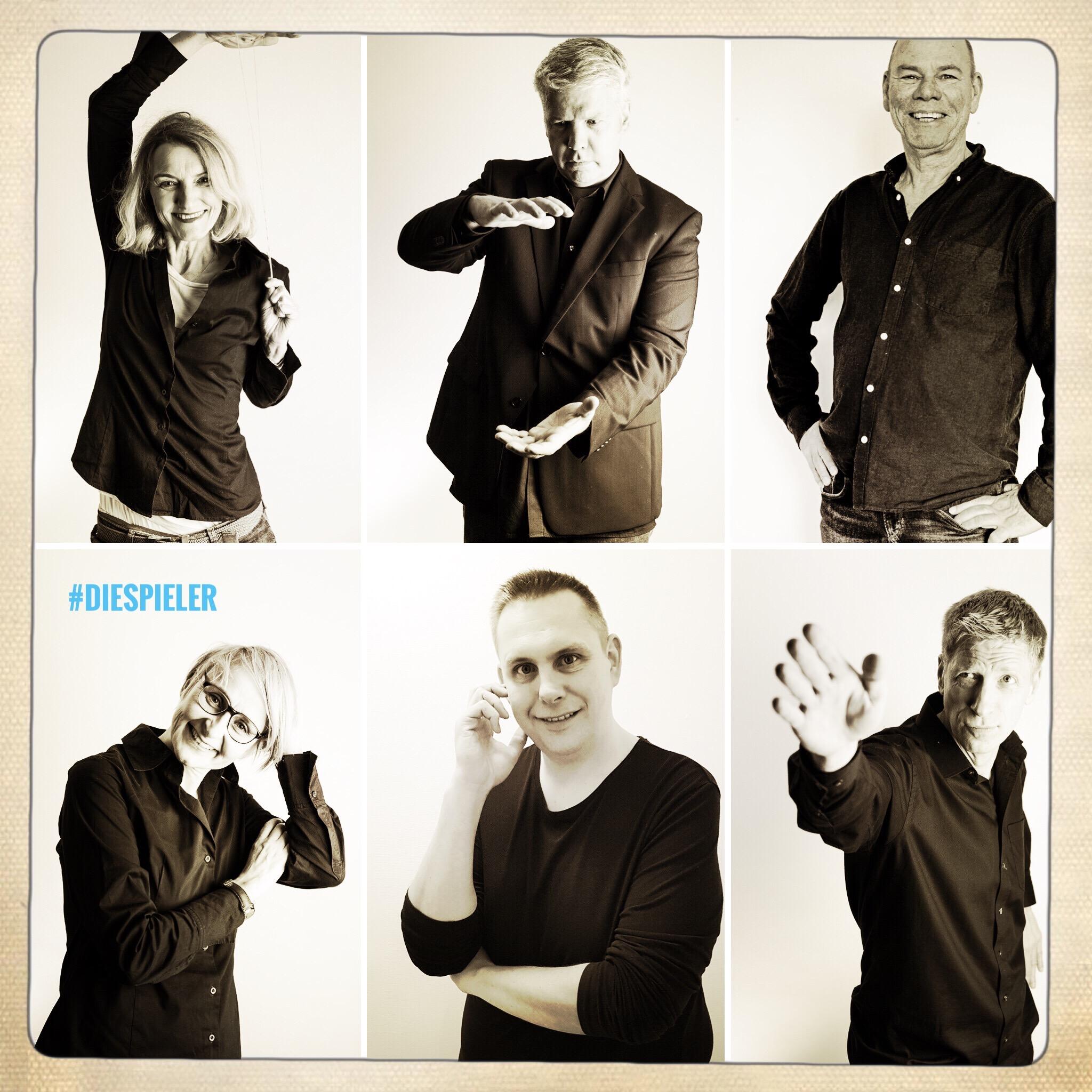 Sechs Schauspieler der Spieler GbR