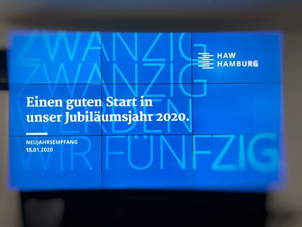 Neujahrsempfang an der HAW mit den Spielern Improvisationstheater und Unternehmenstheater Hamburg
